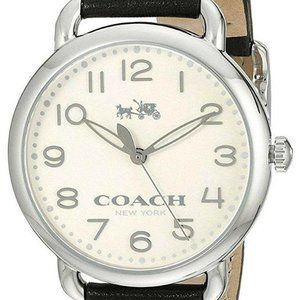 Coach Delancey Women's Watch 36mm Chalk Black